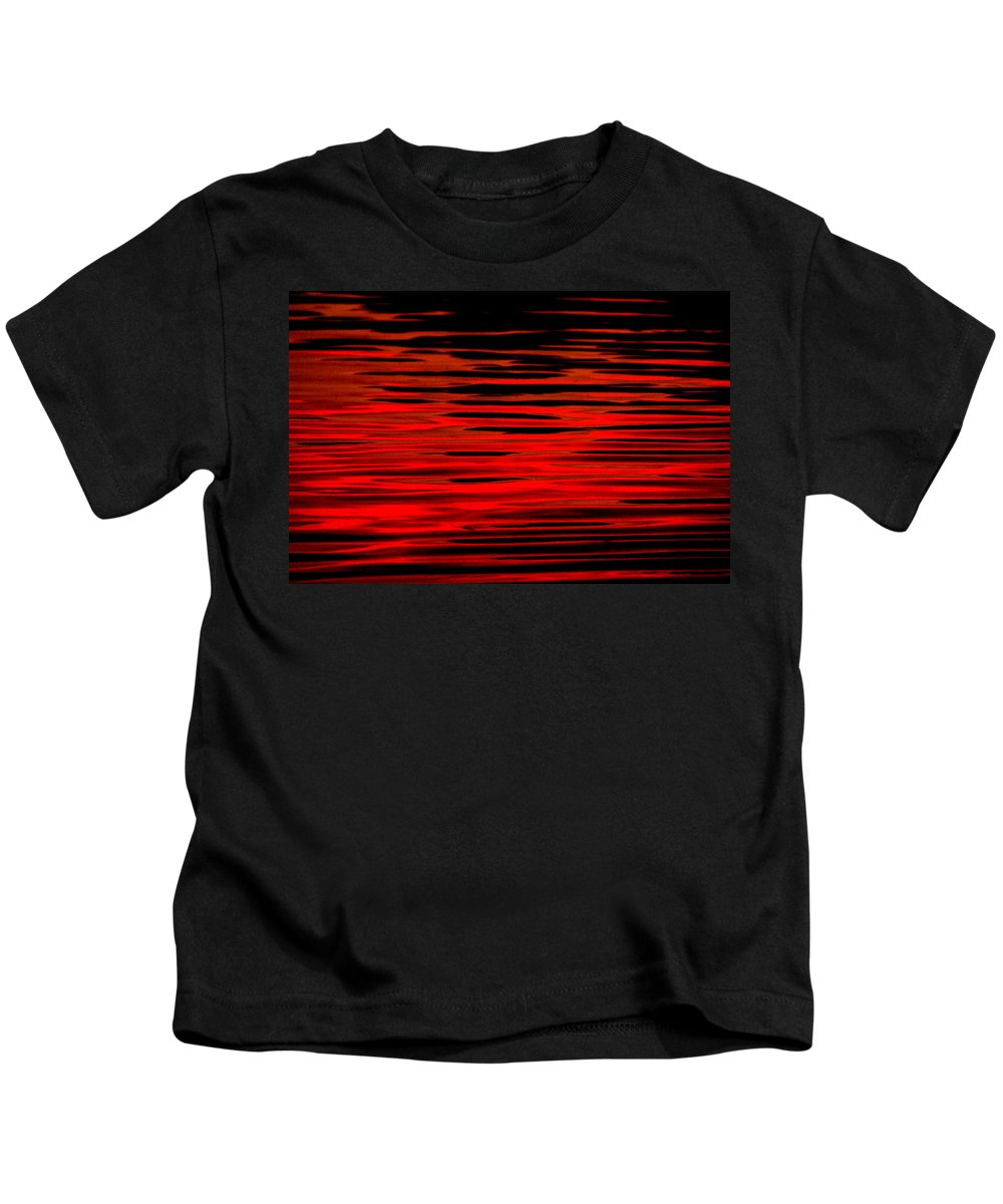 Water Kids T-Shirt featuring the photograph Volcanic Water by Donna Blackhall