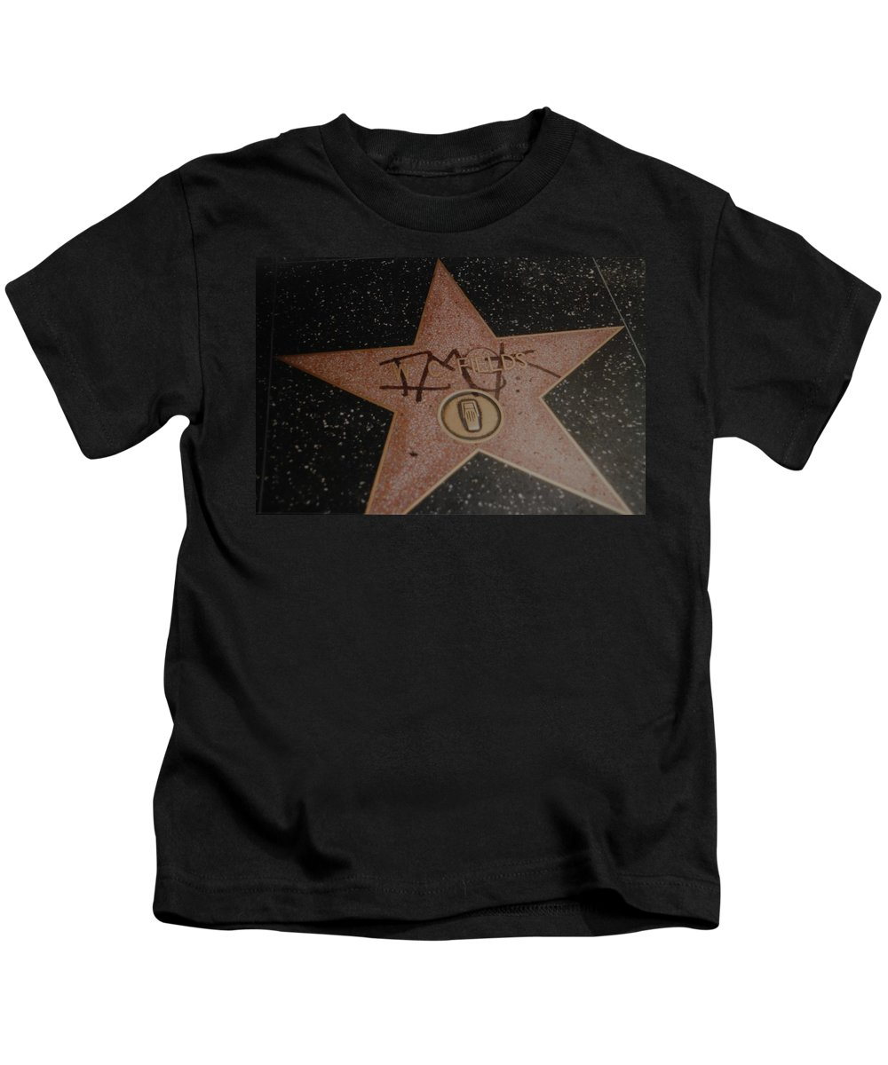 Hollywood Kids T-Shirt featuring the photograph W C Fields Star by Rob Hans