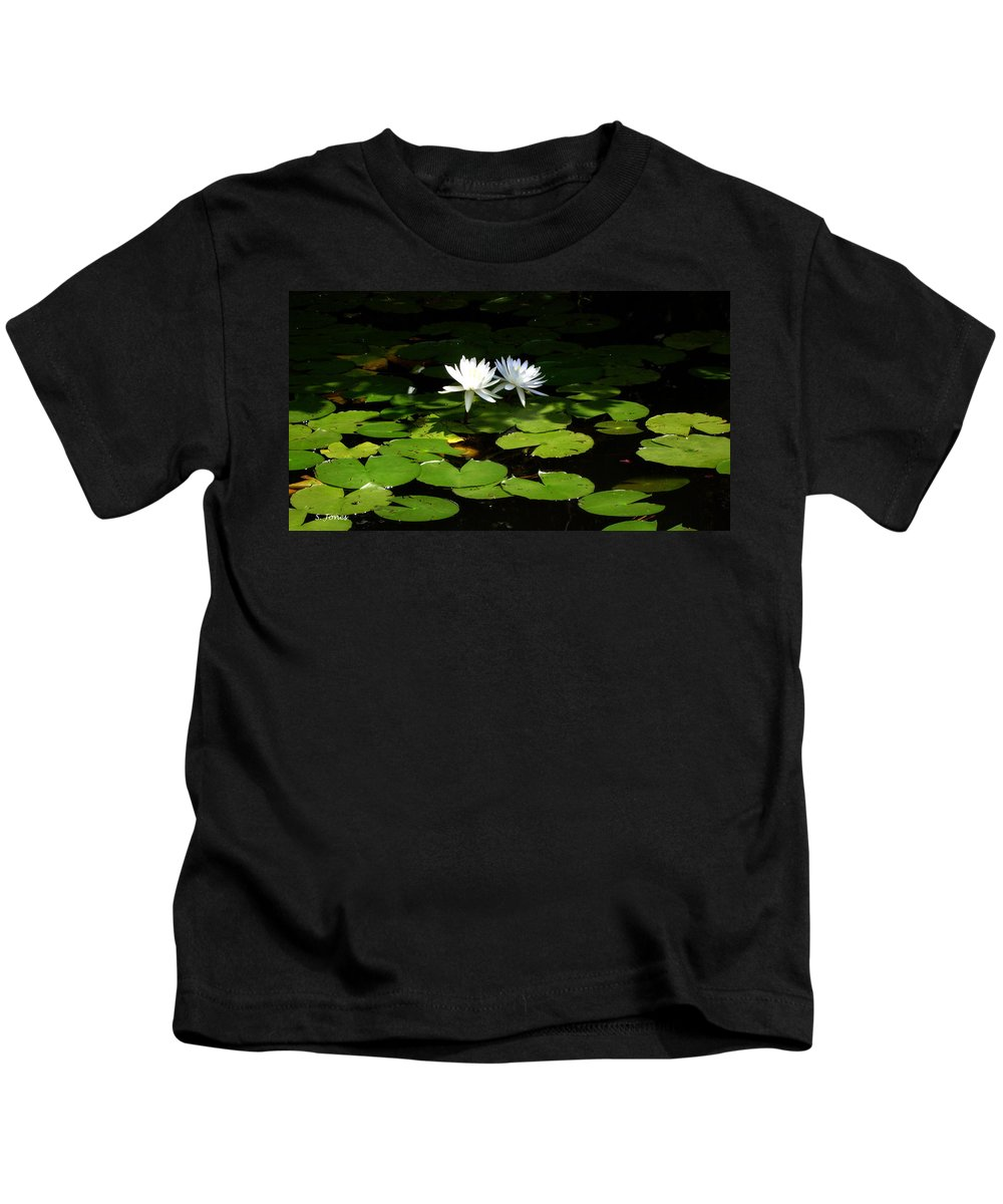 Water Kids T-Shirt featuring the photograph Wading Fairies by Shelley Jones
