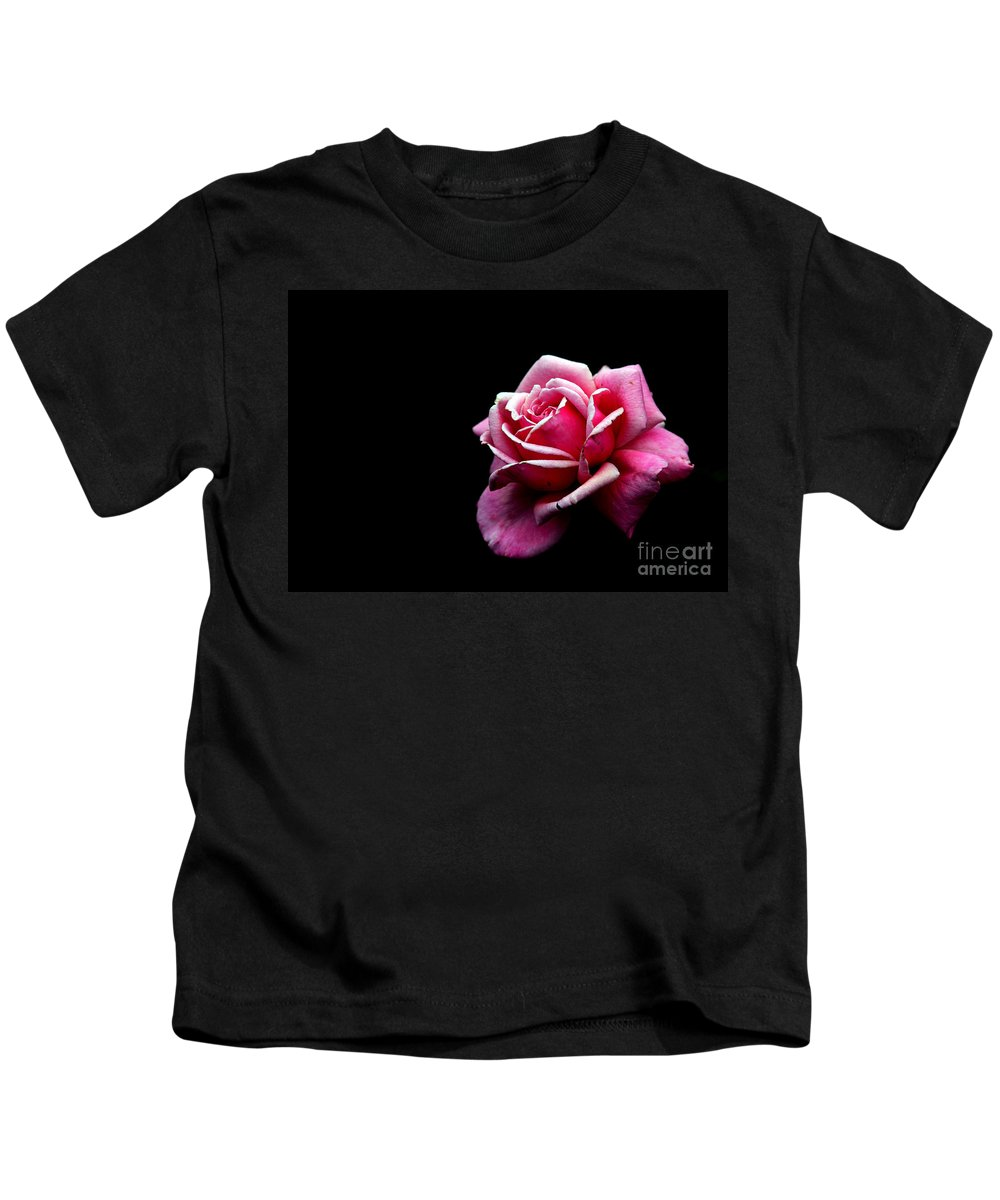 Rose Kids T-Shirt featuring the photograph Waiting by Amanda Barcon