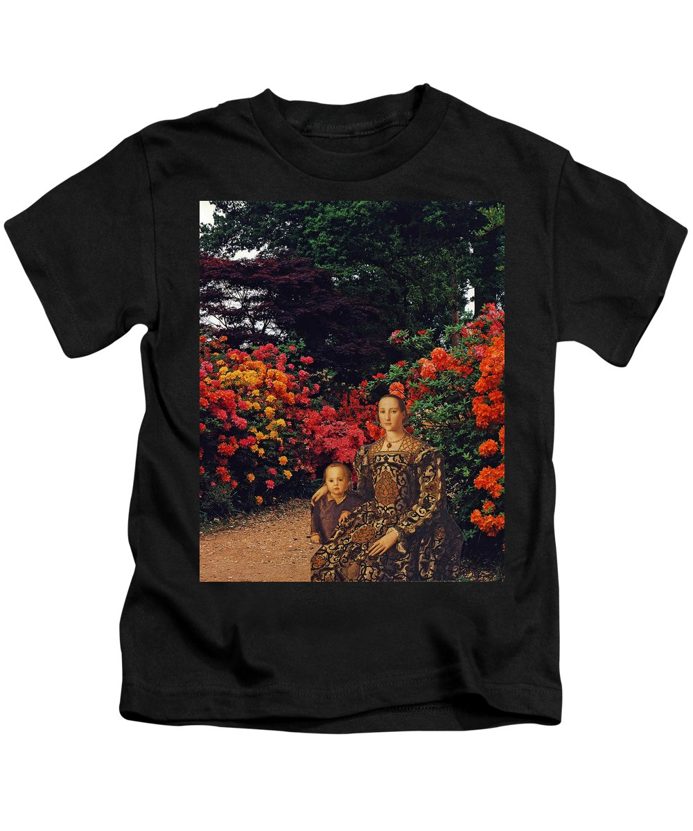 Collage Kids T-Shirt featuring the digital art Waiting By The Path by John Vincent Palozzi
