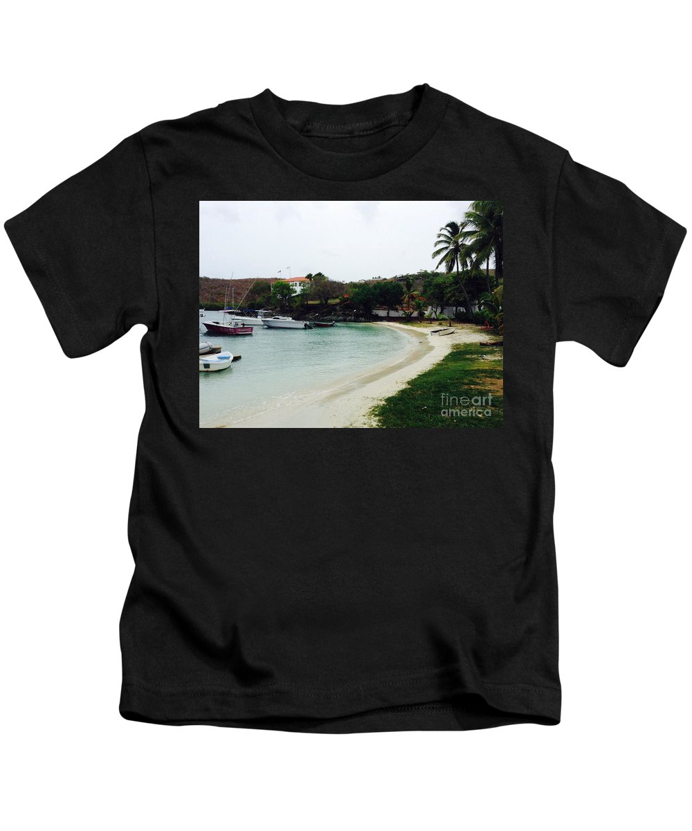 St. John Kids T-Shirt featuring the photograph Waiting For A Ride by Gina Sullivan