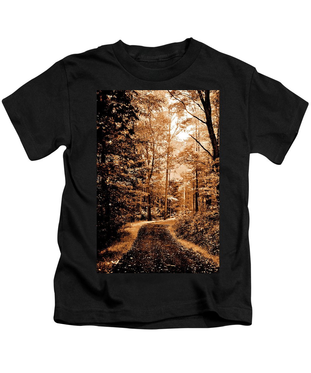 Landscape Kids T-Shirt featuring the photograph Waiting For Spring by Lori Tambakis