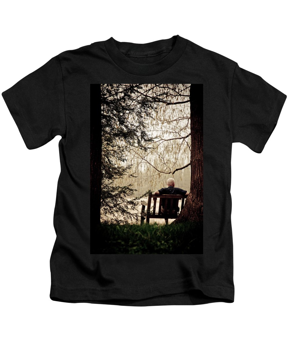 Man Kids T-Shirt featuring the photograph Waiting On A Friend by Trish Tritz