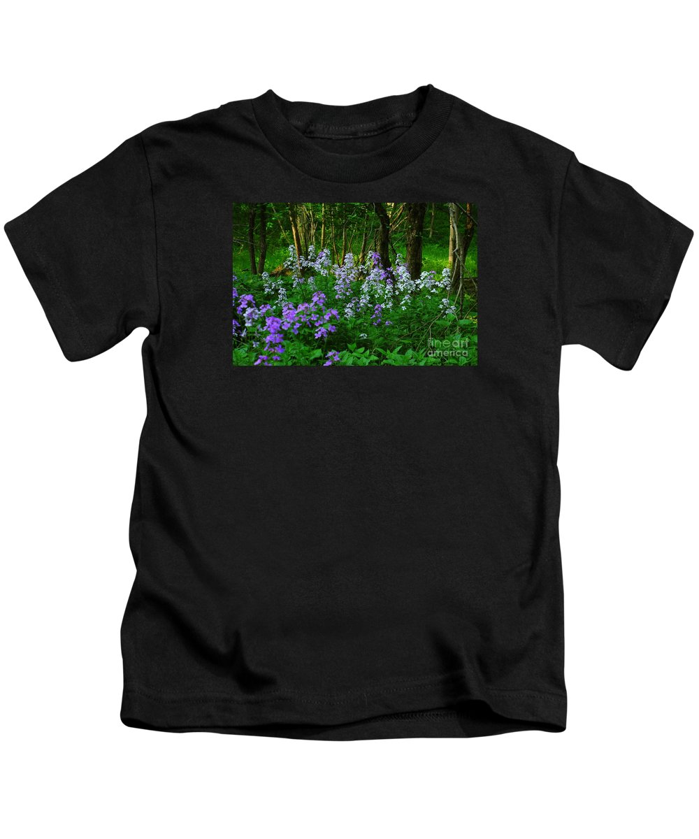 Wildflower Kids T-Shirt featuring the photograph Walk In The Woods by Kathleen Struckle