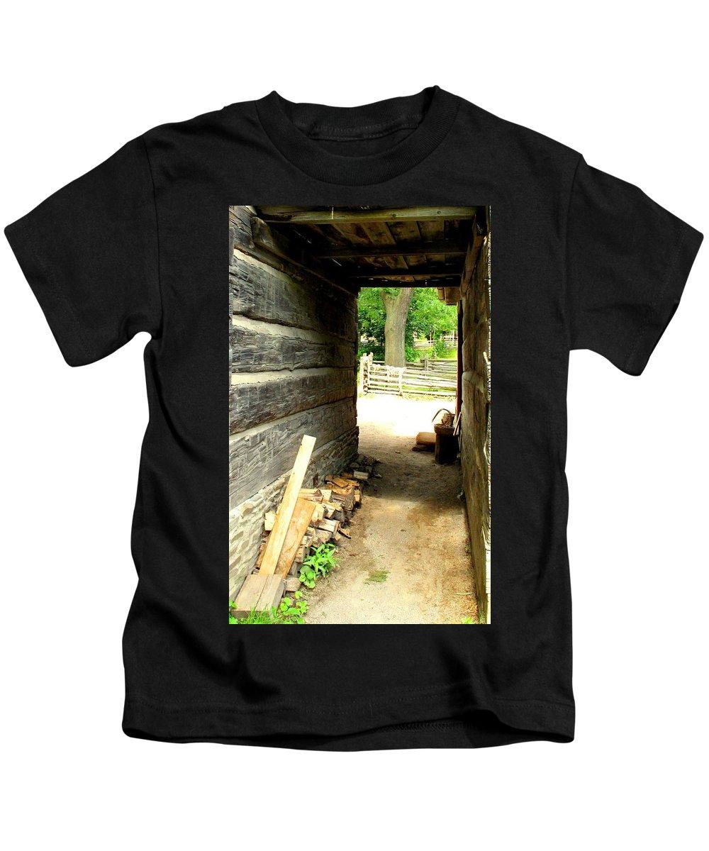Pioneer Kids T-Shirt featuring the photograph Walkway by Ian MacDonald
