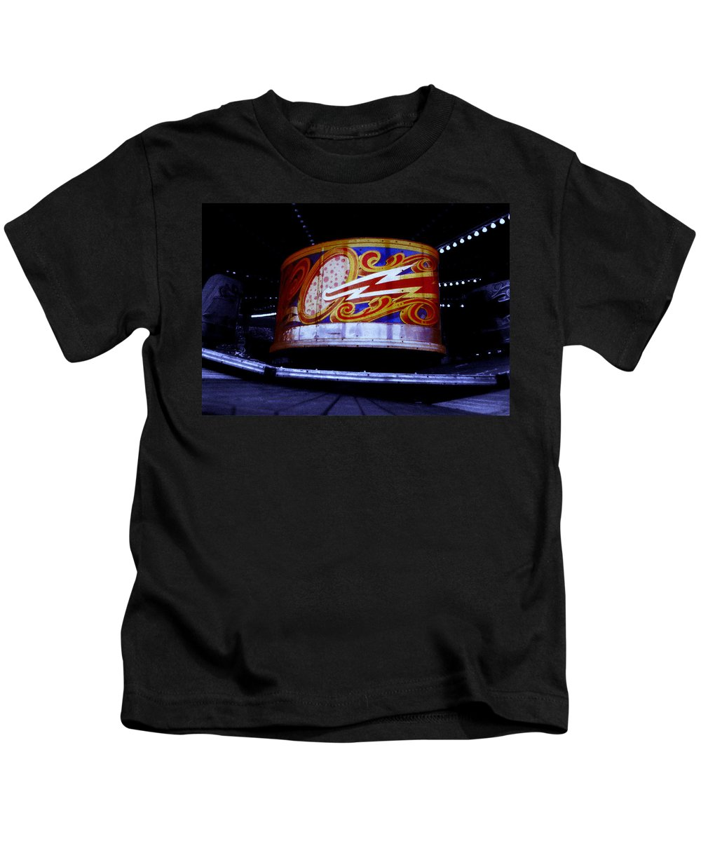 Waltzer Kids T-Shirt featuring the photograph Waltzer by Charles Stuart