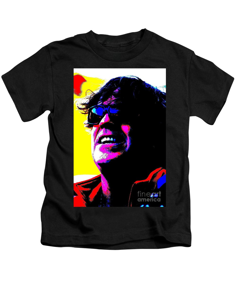 Music Kids T-Shirt featuring the photograph Warhol Robbie by Jesse Ciazza