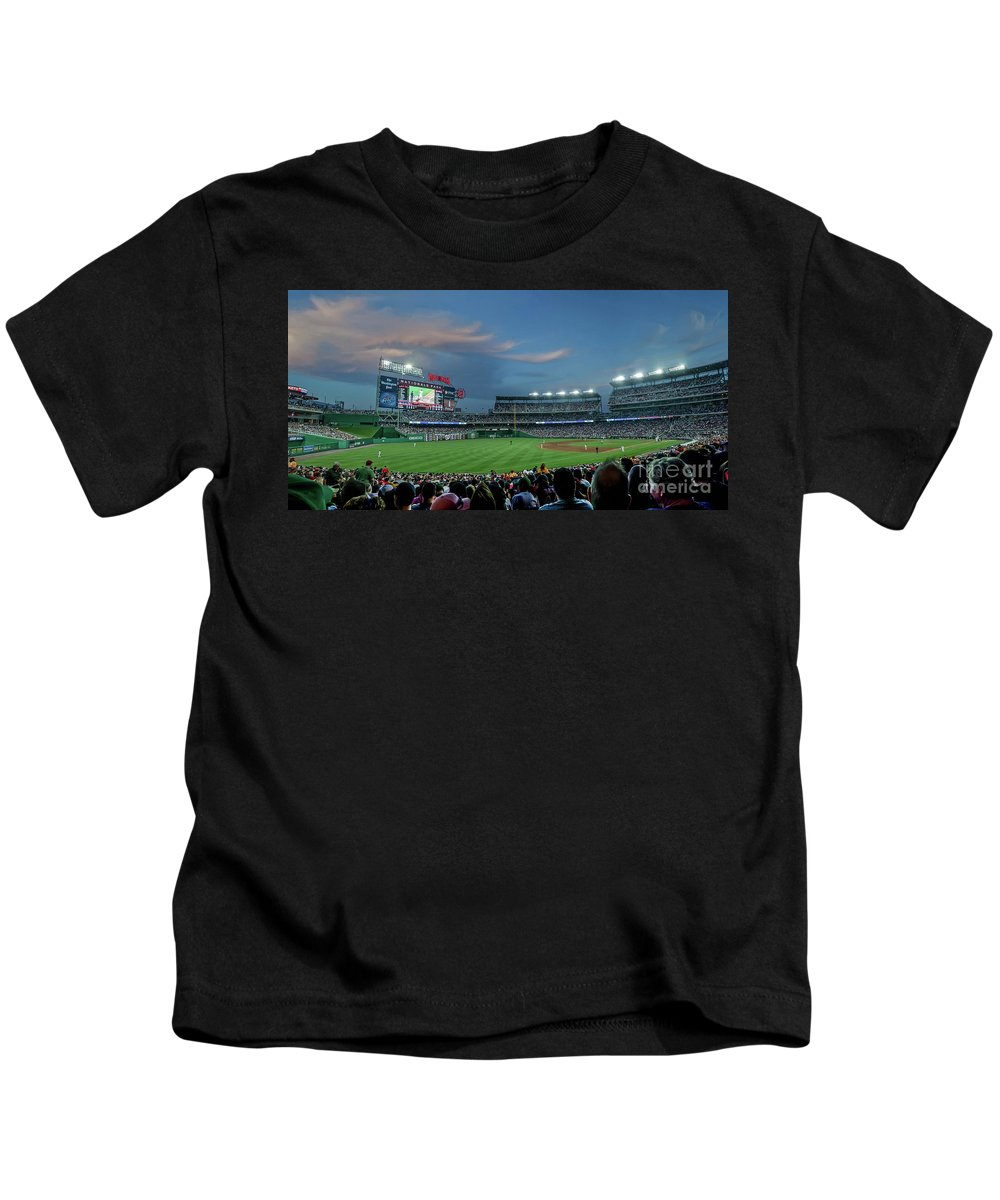 Red Sox Kids T-Shirt featuring the photograph Washington Nationals In Our Nations Capitol by Thomas Marchessault