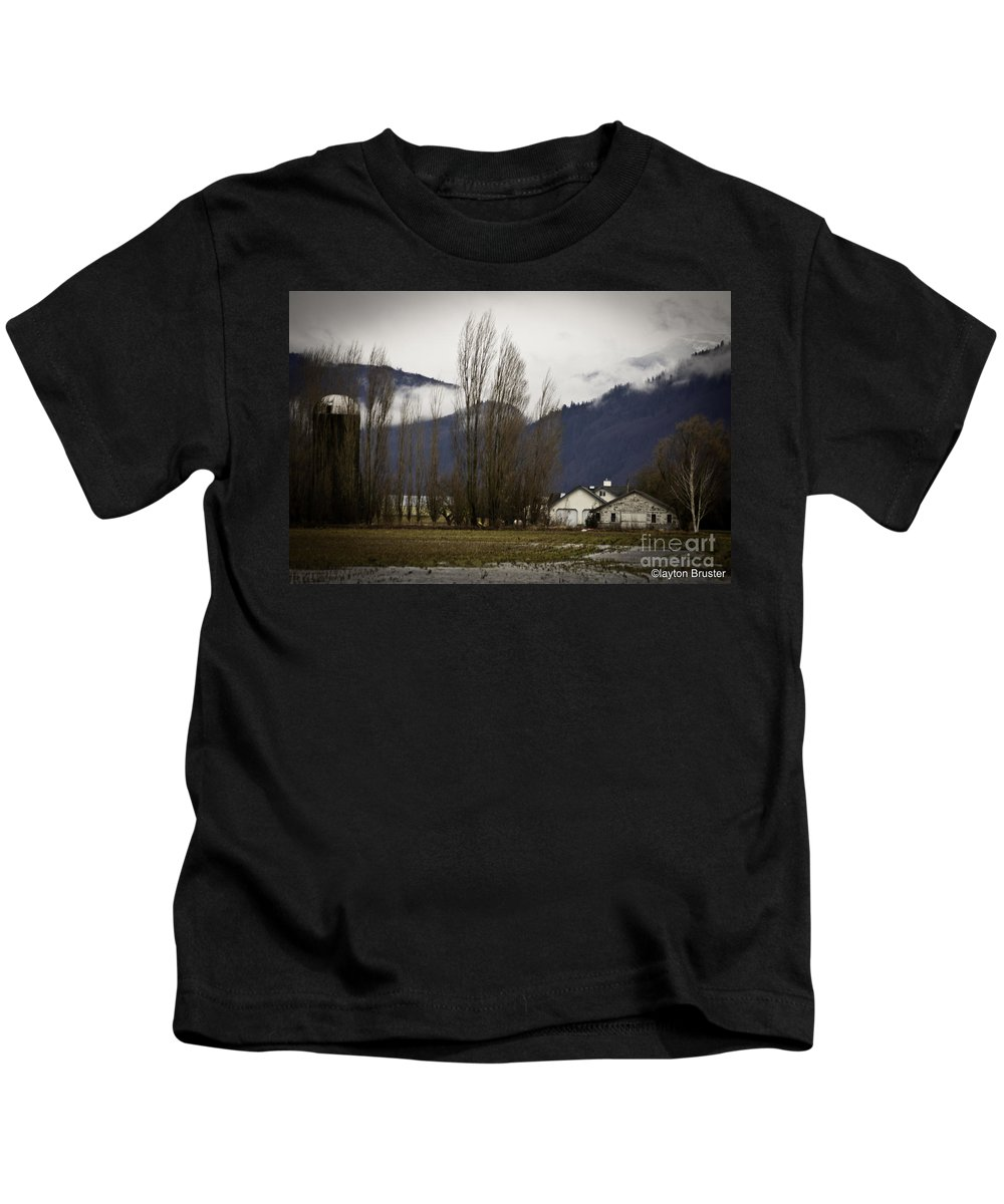Art Kids T-Shirt featuring the photograph Washington Winter Day by Clayton Bruster