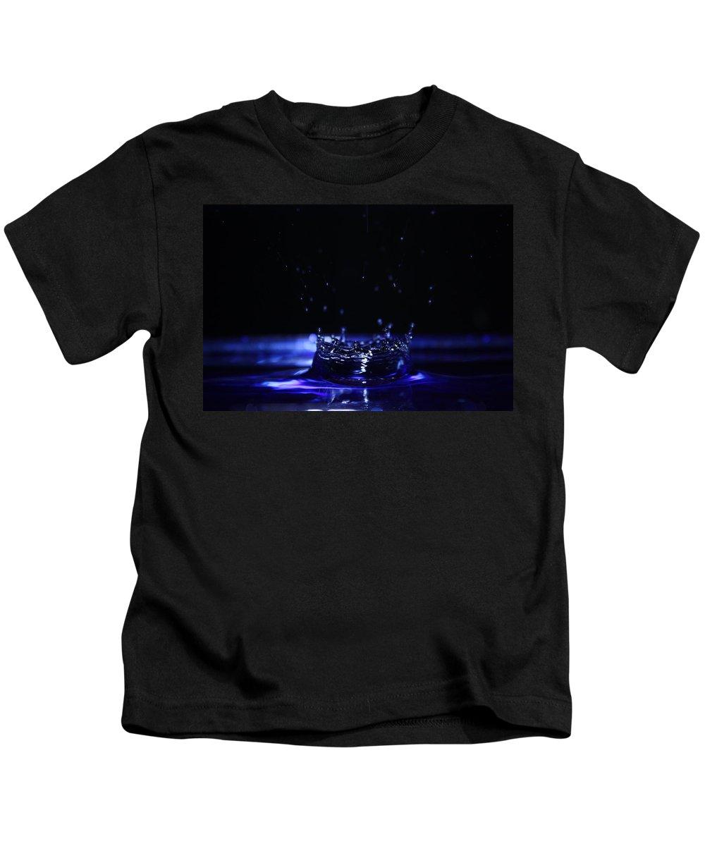 Photography Kids T-Shirt featuring the photograph Water Drop by Alexander Butler