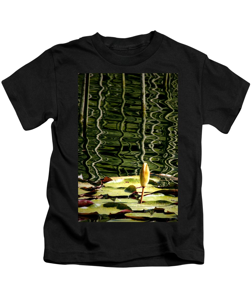 Water Lily Bud Kids T-Shirt featuring the photograph Water Lily Budd by Chris Brannen