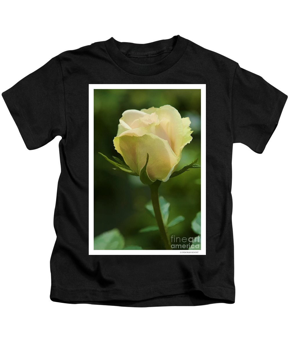 Rose Kids T-Shirt featuring the photograph Watercolor Rose by Deborah Benoit