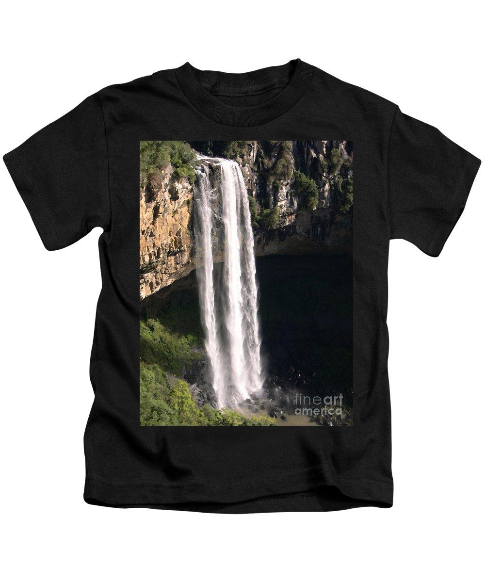 Waterfall Kids T-Shirt featuring the photograph Waterfall by R Muirhead Art
