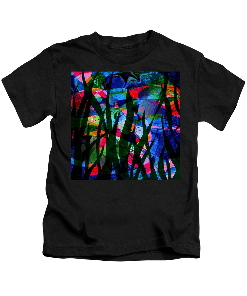 Abstract Kids T-Shirt featuring the digital art Watermelon And A Swim by Rachel Christine Nowicki