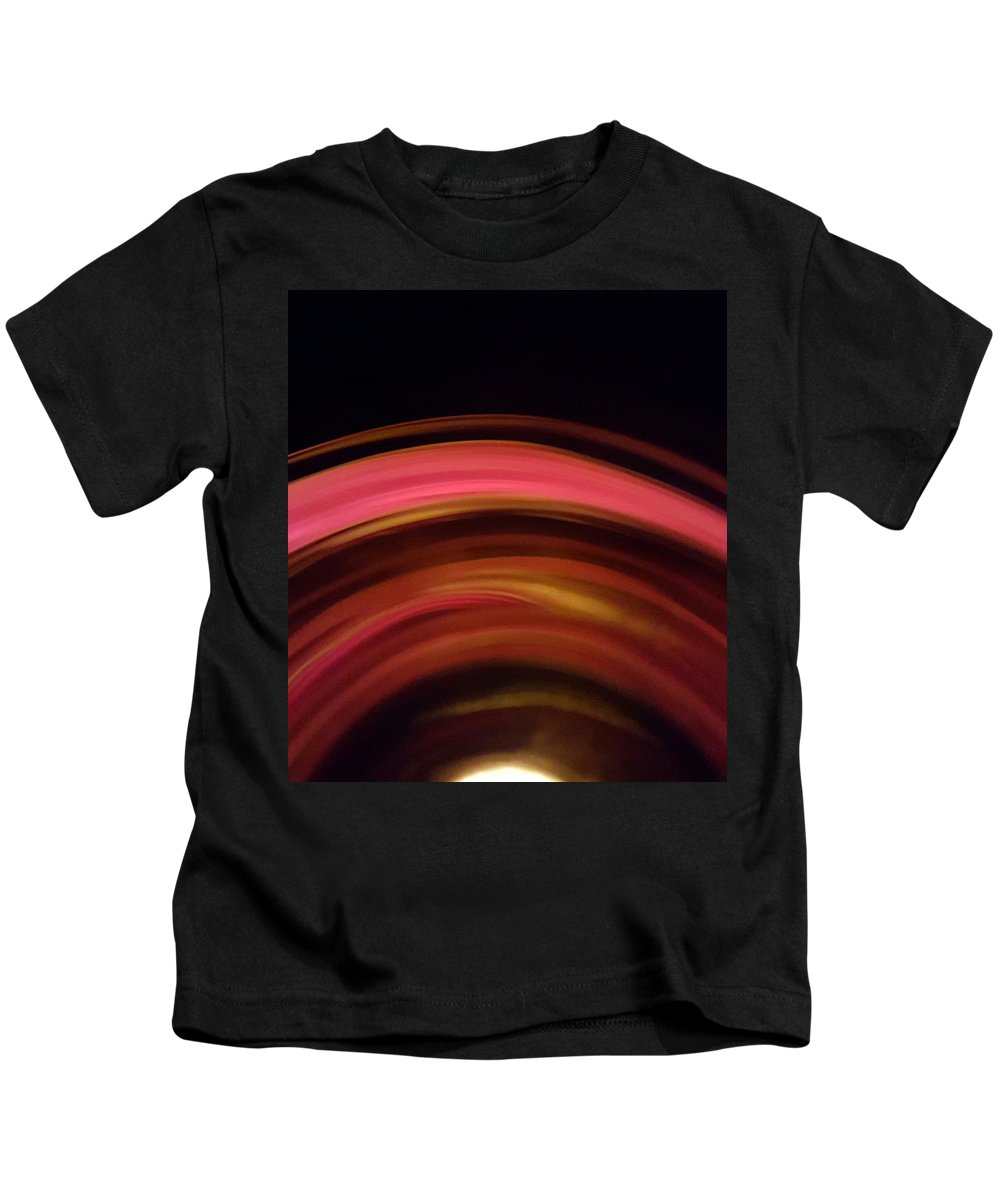 Lines Kids T-Shirt featuring the photograph Waves Of Rose by Taina Hernandez