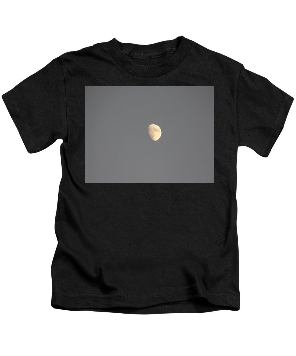 Waxing Kids T-Shirt featuring the photograph Waxing Moon by Valerie Ornstein