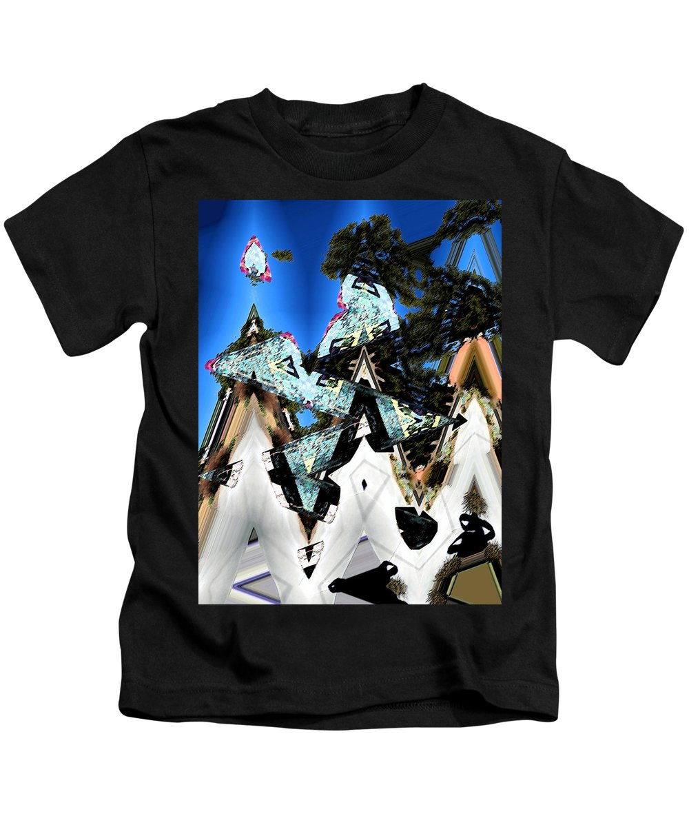 Abstract Kids T-Shirt featuring the digital art We Three Kings by Lenore Senior