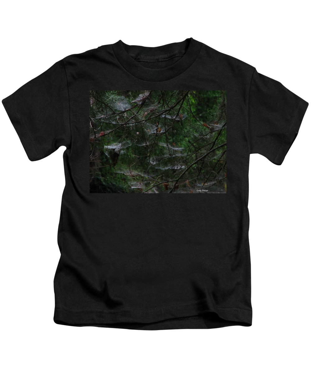 Patzer Kids T-Shirt featuring the photograph Webs Of A Tree by Greg Patzer