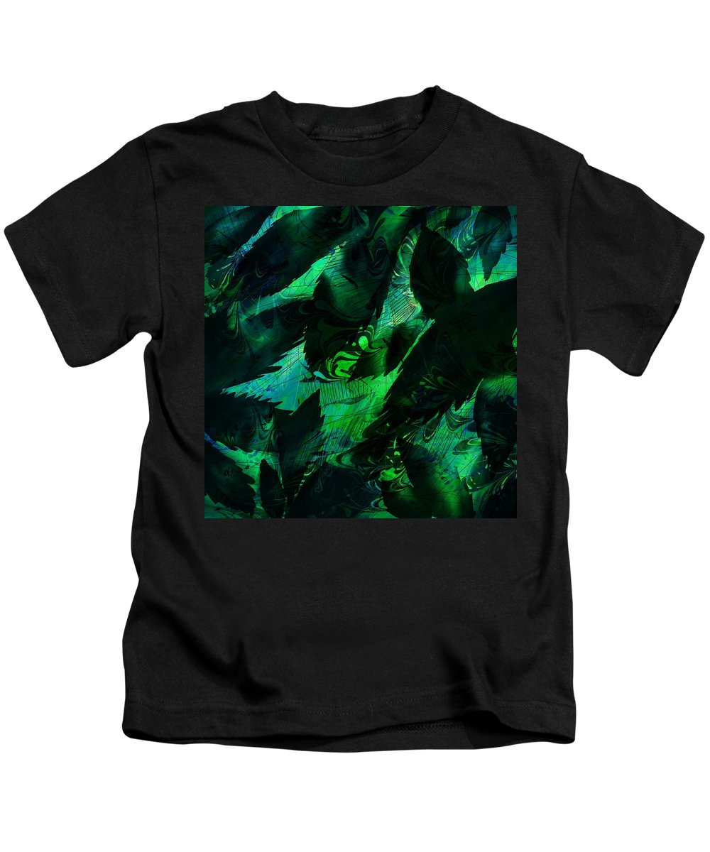 Abstract Kids T-Shirt featuring the digital art Weeds by Rachel Christine Nowicki