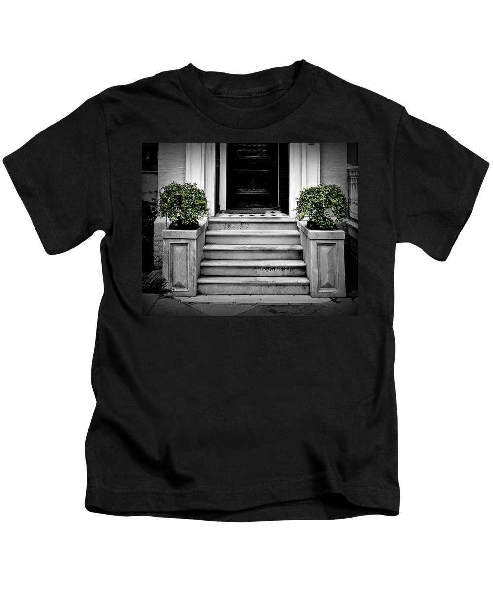 Step Kids T-Shirt featuring the photograph Welcome Steps by Perry Webster