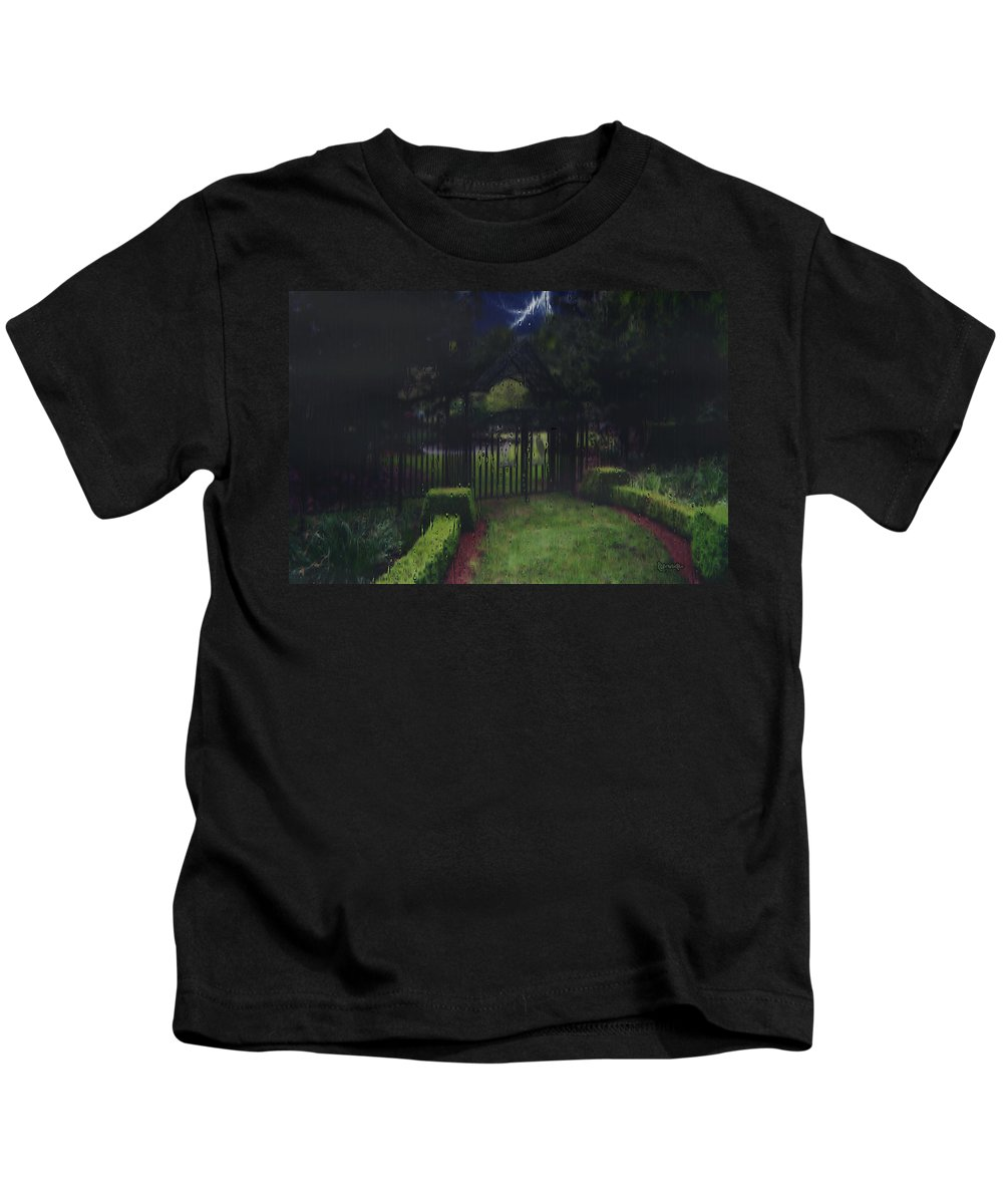 Landscape Kids T-Shirt featuring the painting Welcome To Dudleytown by RC deWinter