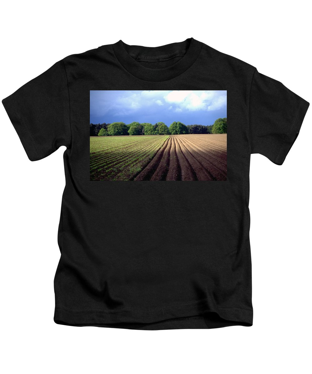 Wendland Kids T-Shirt featuring the photograph Wendland by Flavia Westerwelle