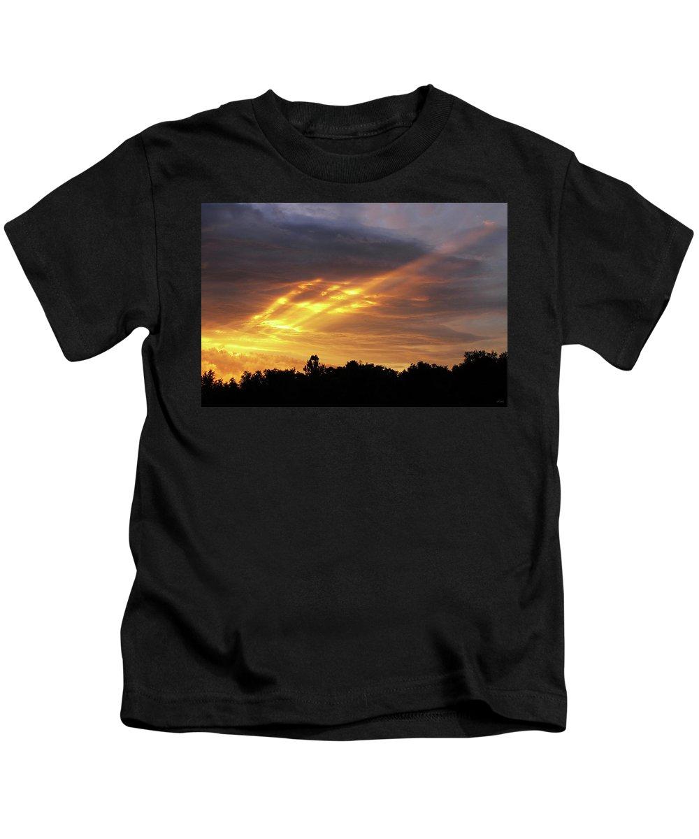 Brad Brailsford Kids T-Shirt featuring the photograph Westbound by Brad Brailsford