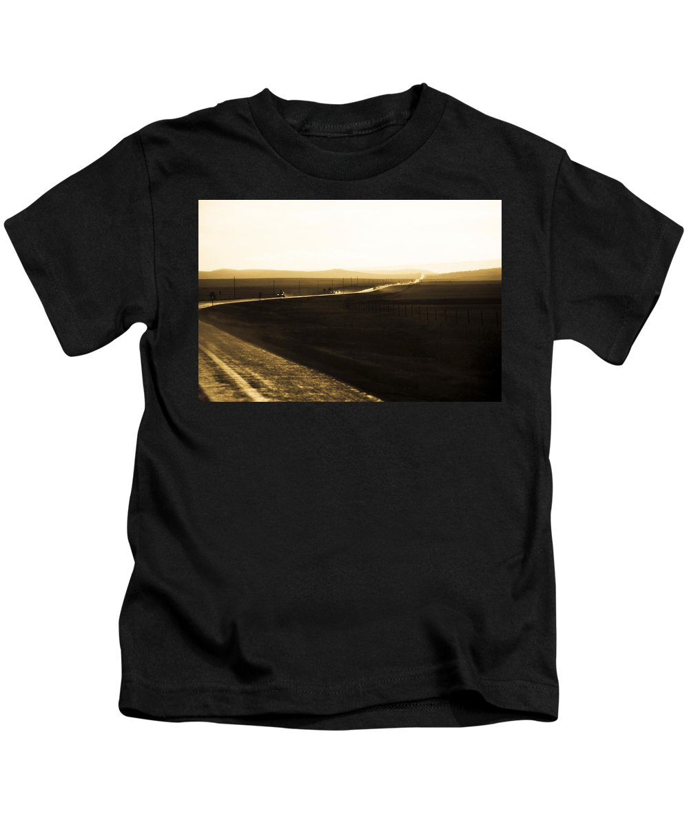 Rain Kids T-Shirt featuring the photograph Western Rain by Marilyn Hunt