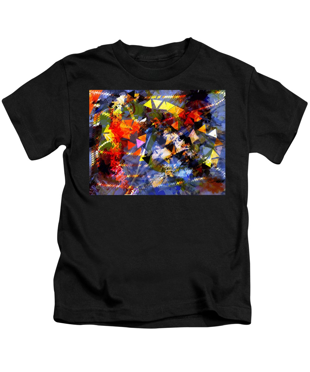 Abstract Kids T-Shirt featuring the photograph Wet Leaves by Mindy Newman