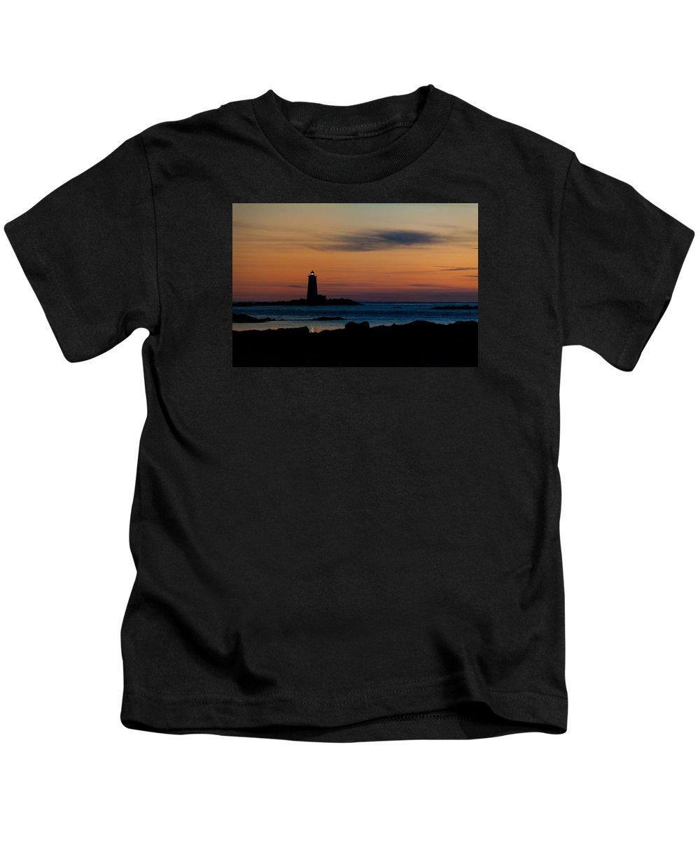 Lighthouse Kids T-Shirt featuring the photograph Whaleback Light by Robert Clifford