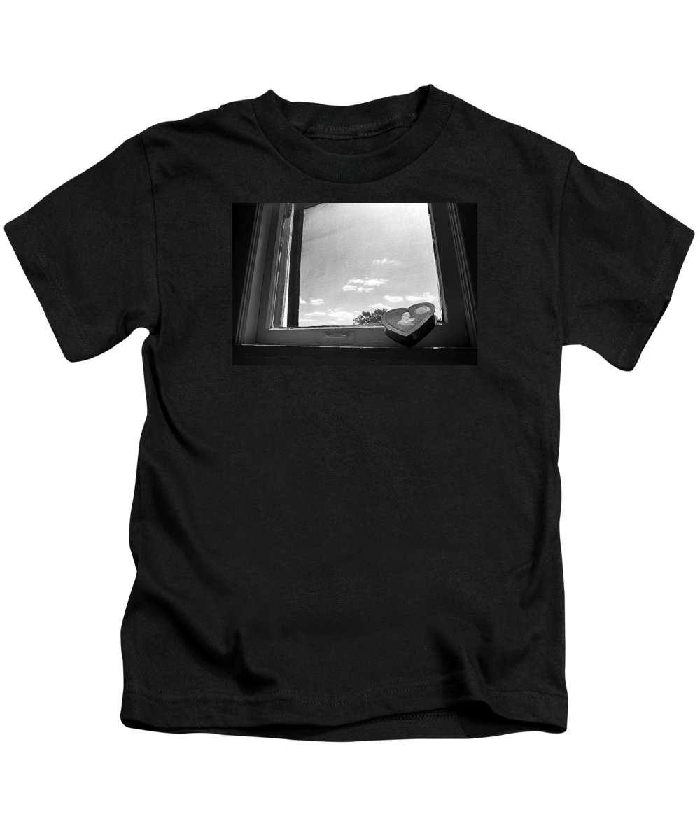 Window Kids T-Shirt featuring the photograph What Remains by Ted M Tubbs