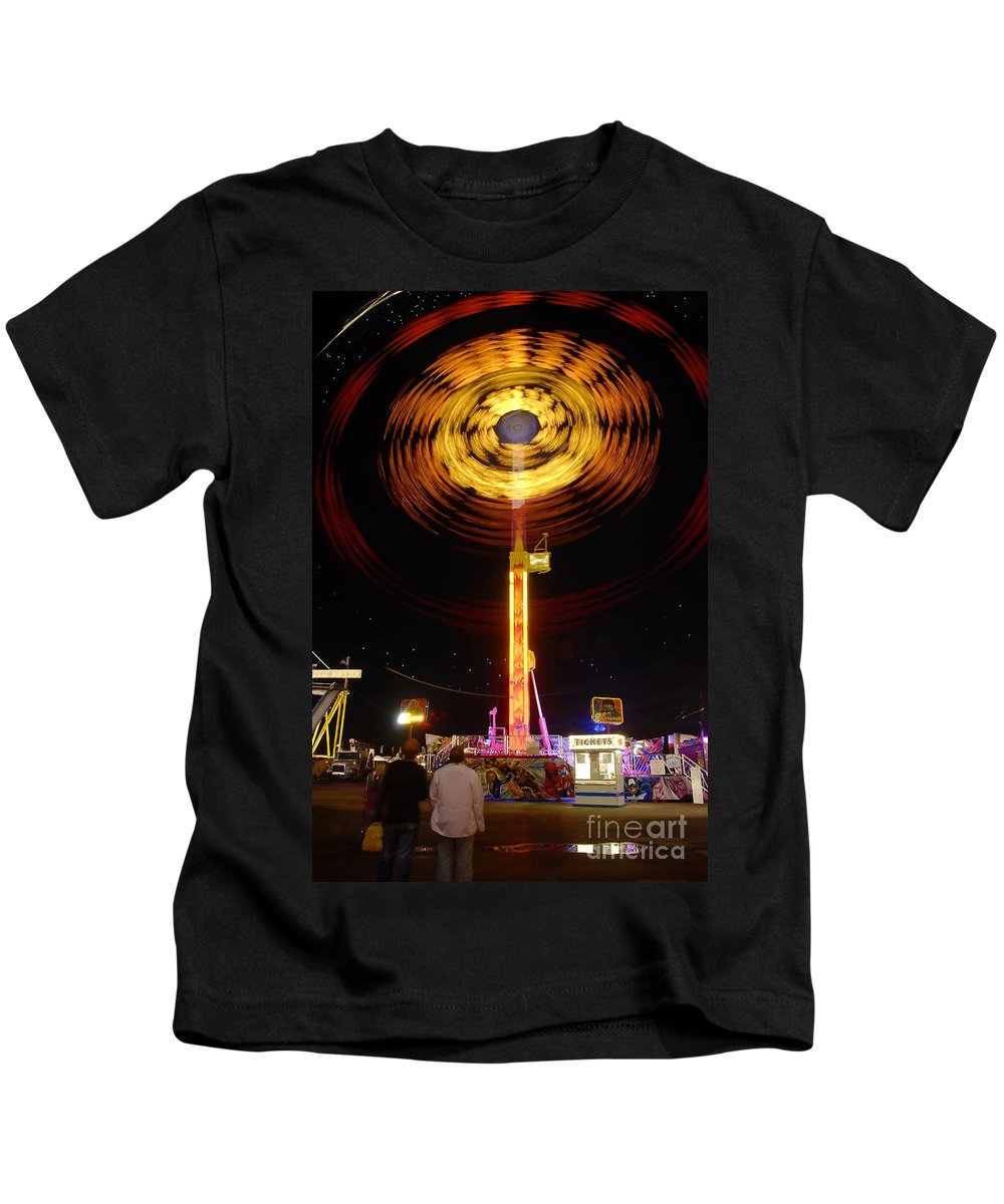 Fair Kids T-Shirt featuring the photograph Wheels Of Wonder by David Lee Thompson