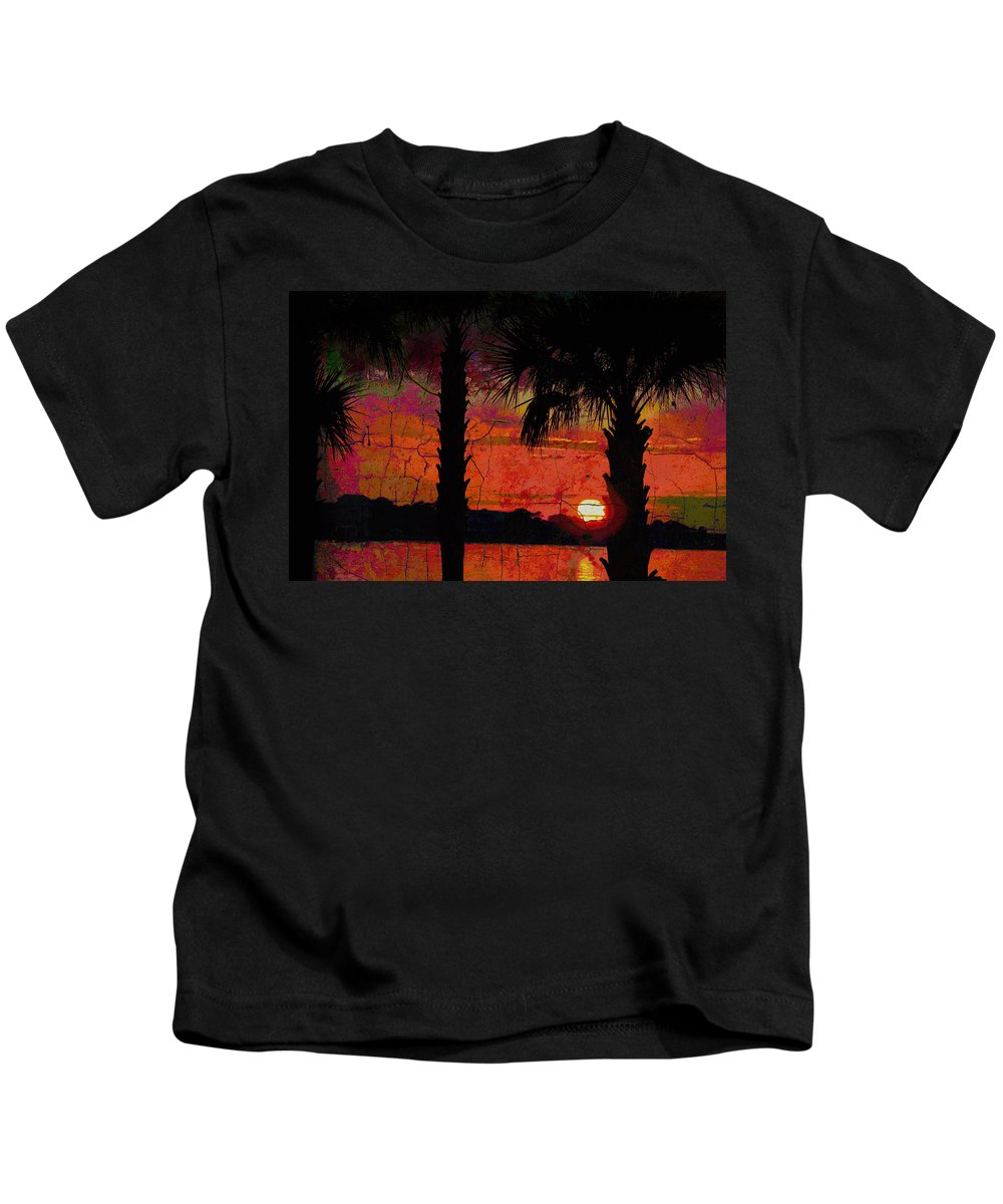 Seascapes Kids T-Shirt featuring the photograph When The Day Ends Time Is Exhausted by Jan Amiss Photography