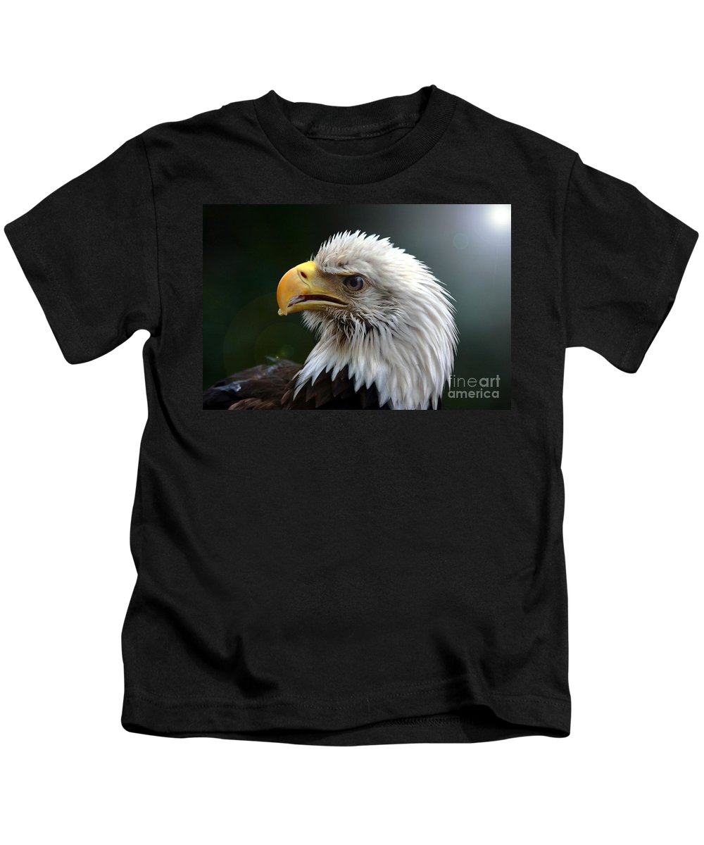 Bird Kids T-Shirt featuring the photograph Where Eagles Dare 3 by Randy Matthews