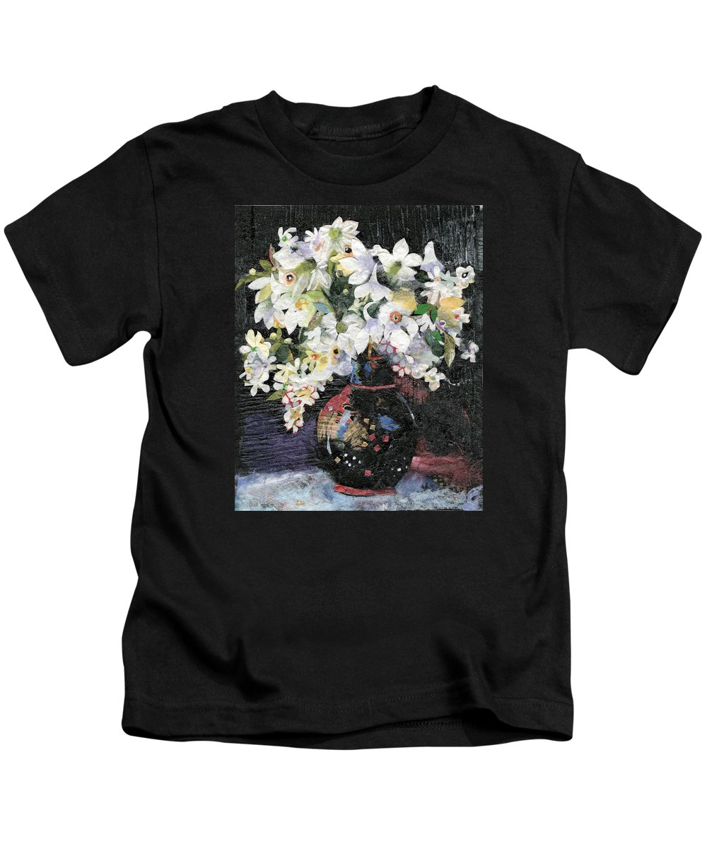 Limited Edition Prints Kids T-Shirt featuring the painting White Celebration by Nira Schwartz