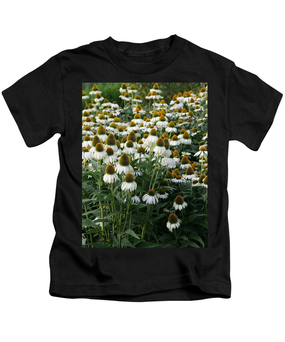 White Coneflower Kids T-Shirt featuring the photograph White Coneflower Field by Christiane Schulze Art And Photography