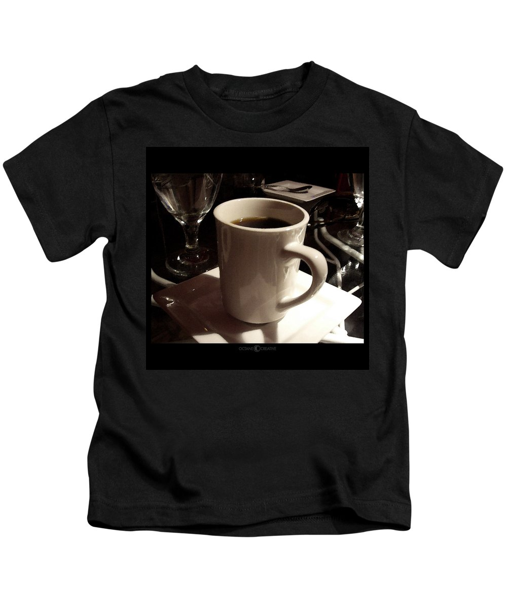 White Kids T-Shirt featuring the photograph White Cup by Tim Nyberg