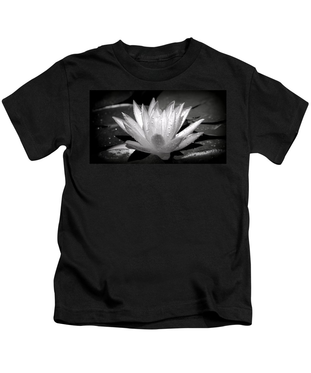 Black Kids T-Shirt featuring the photograph White Lily by Tina Meador