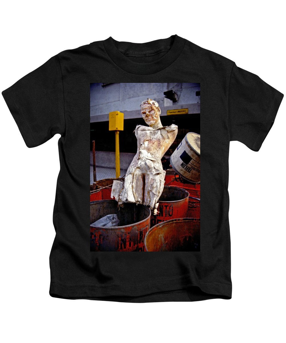Trash Kids T-Shirt featuring the photograph White Trash by Skip Hunt