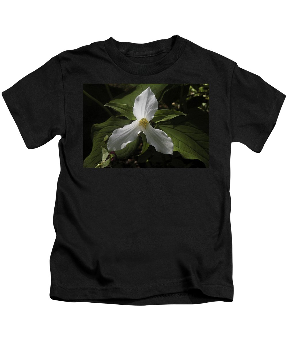 Flower Kids T-Shirt featuring the photograph White Trillium by Nancy Griswold