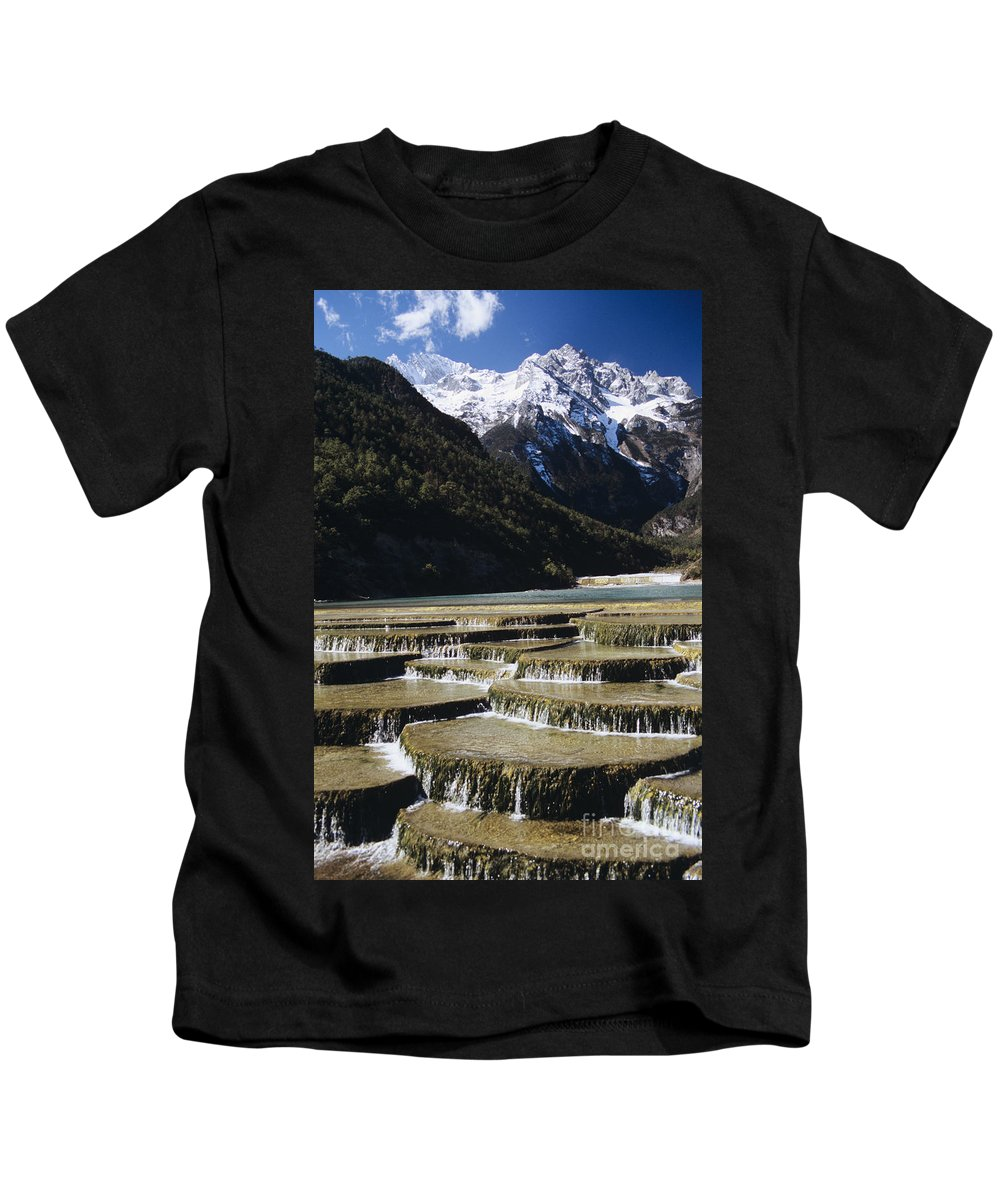 Asian Art Kids T-Shirt featuring the photograph White Water River - Lijiang by Gloria & Richard Maschmeyer - Printscapes