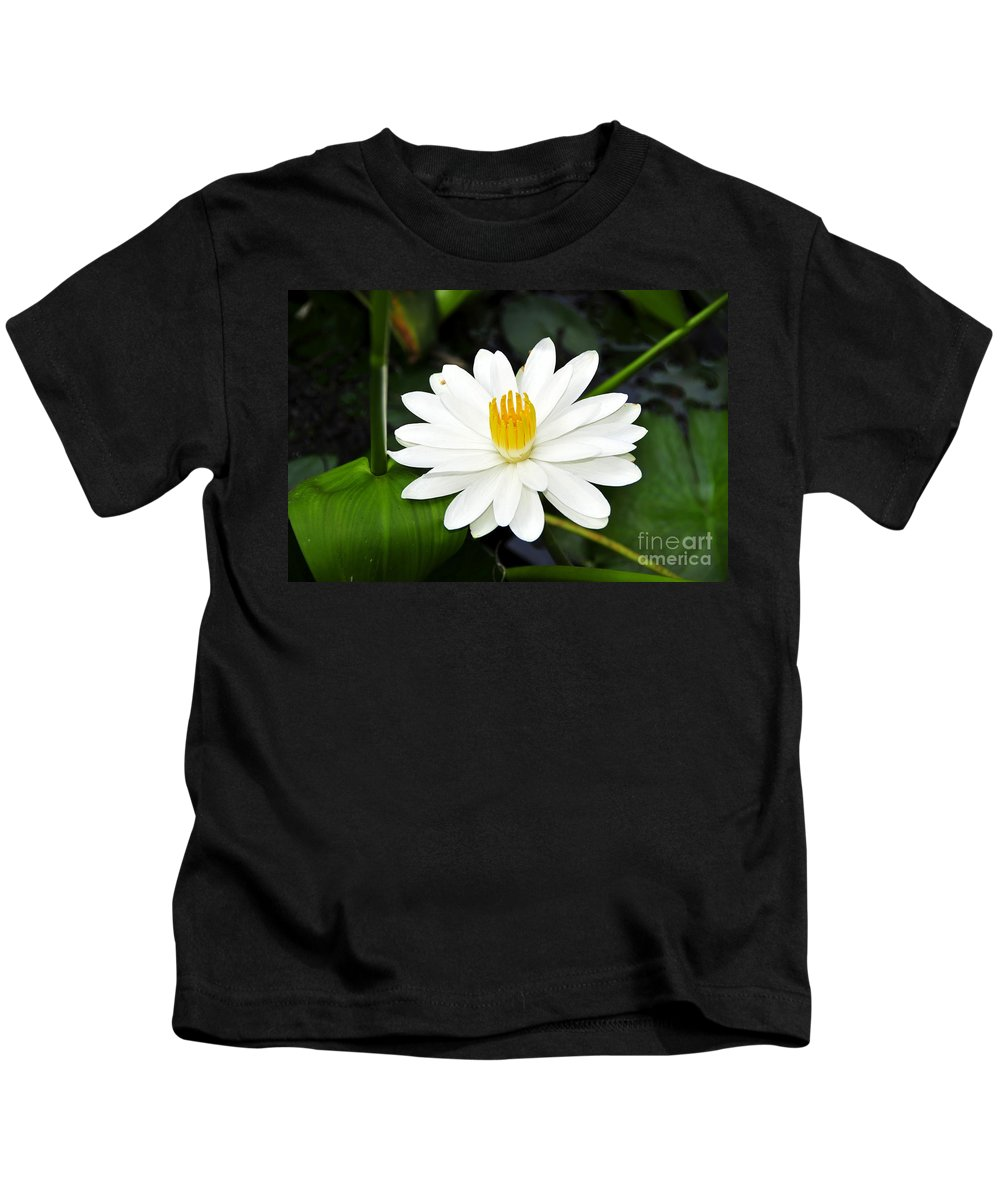 White Kids T-Shirt featuring the photograph White Wonder by David Lee Thompson