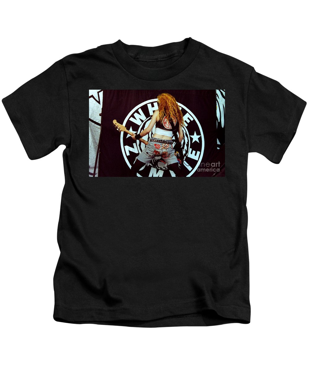 White Zombie Kids T-Shirt featuring the photograph White Zombie 93-sean-0341 by Timothy Bischoff