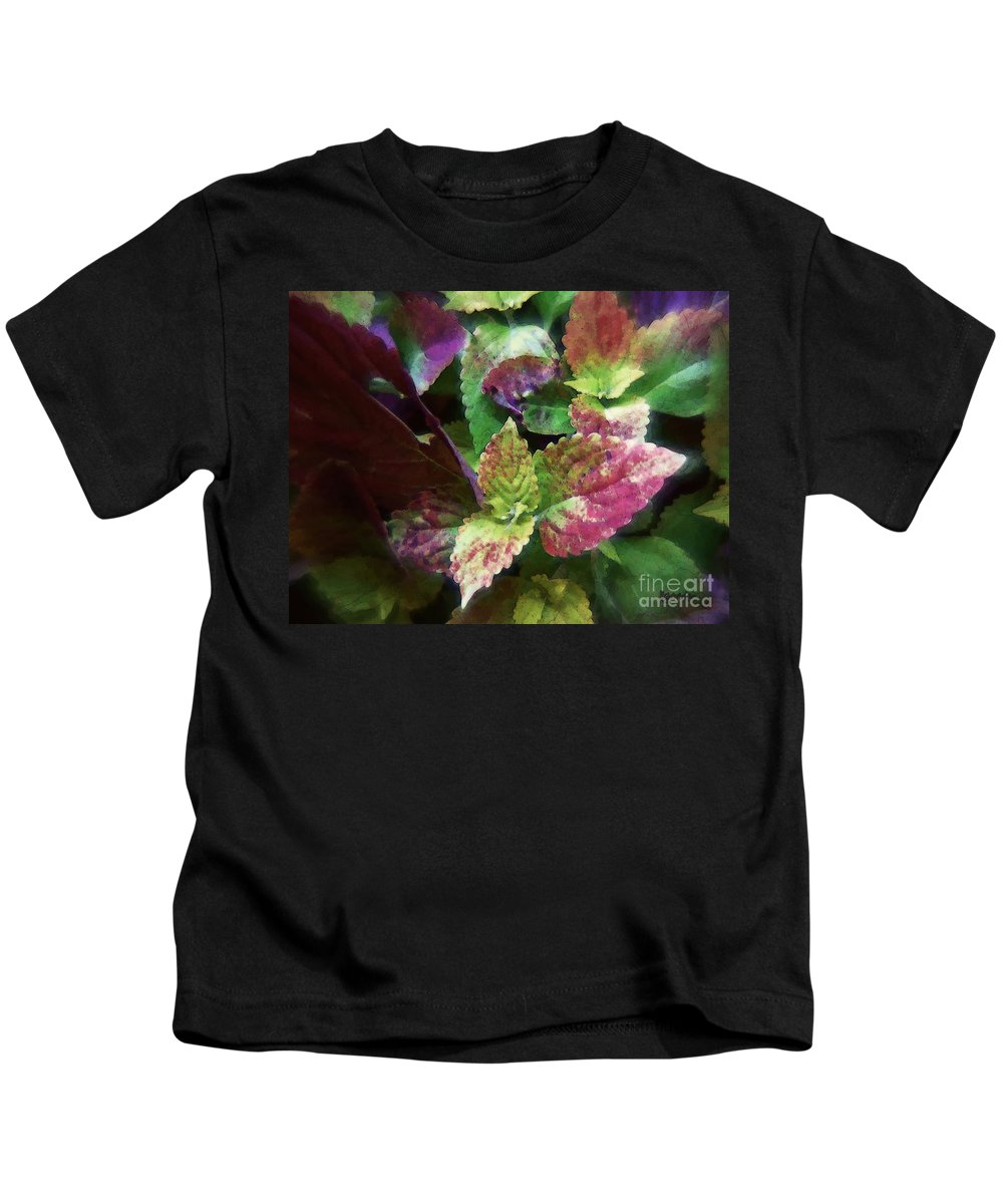Coleus Kids T-Shirt featuring the painting Who Needs Flowers by RC DeWinter