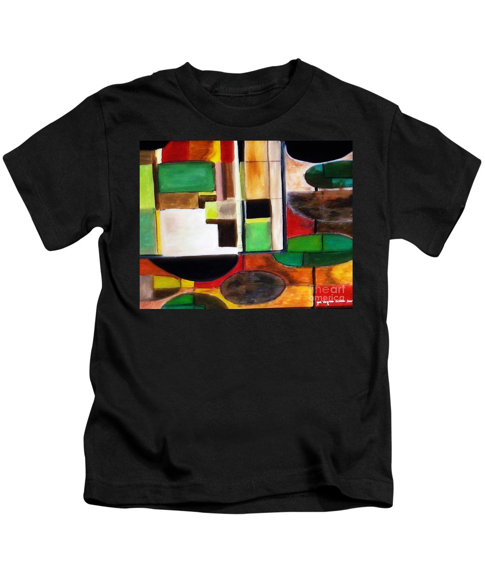 Acrylic Painting Kids T-Shirt featuring the painting Wholeness by Yael VanGruber