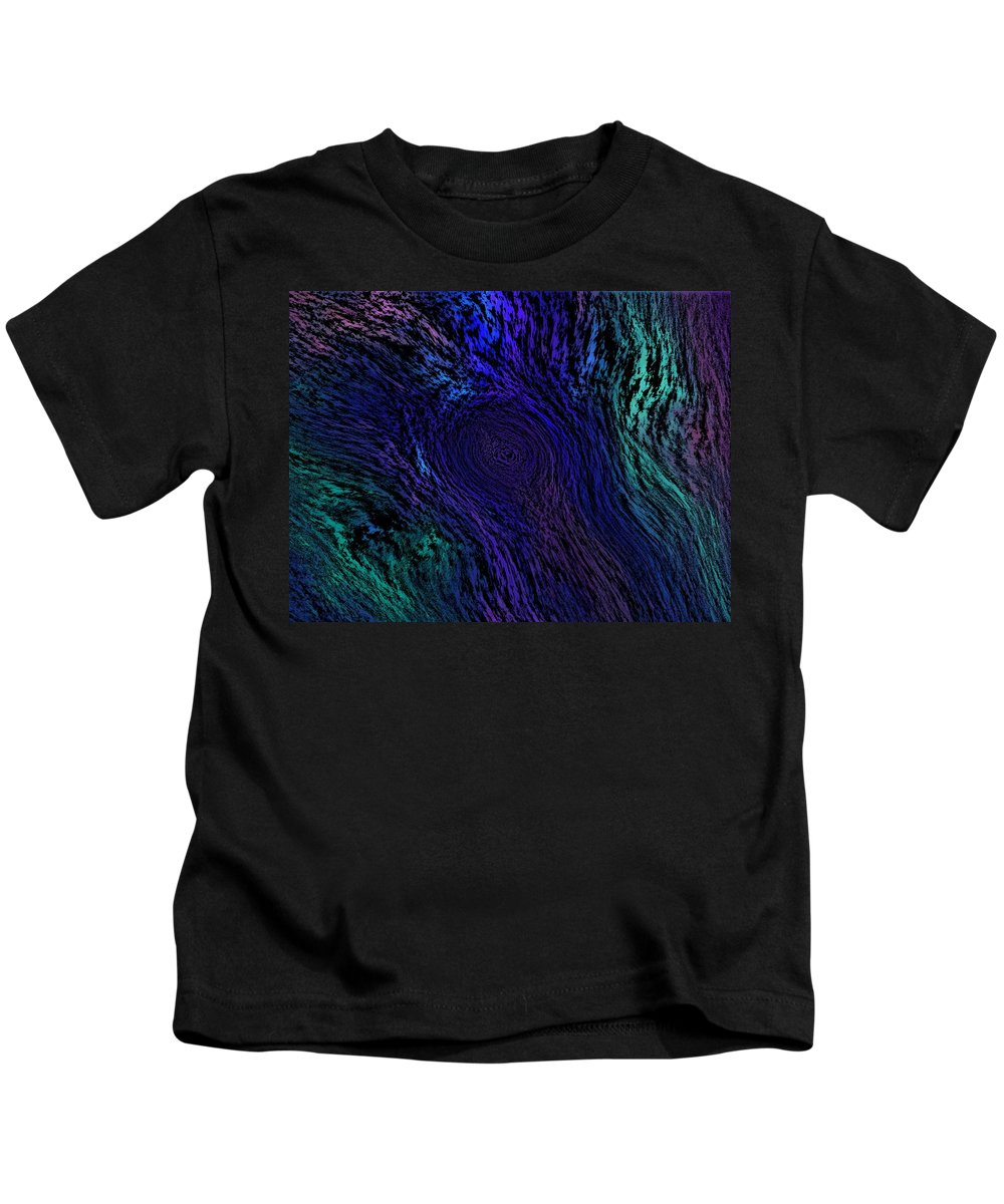 Abstract Digital Painting Kids T-Shirt featuring the digital art Whoof by David Lane