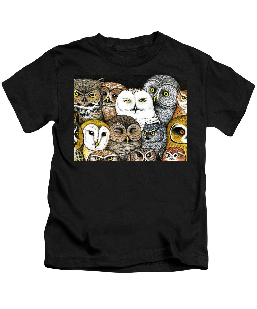 Art Kids T-Shirt featuring the painting Who's Hoo by Don McMahon