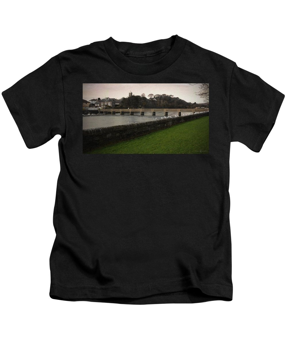 Footbridge Kids T-Shirt featuring the photograph Wicklow Footbridge by Tim Nyberg