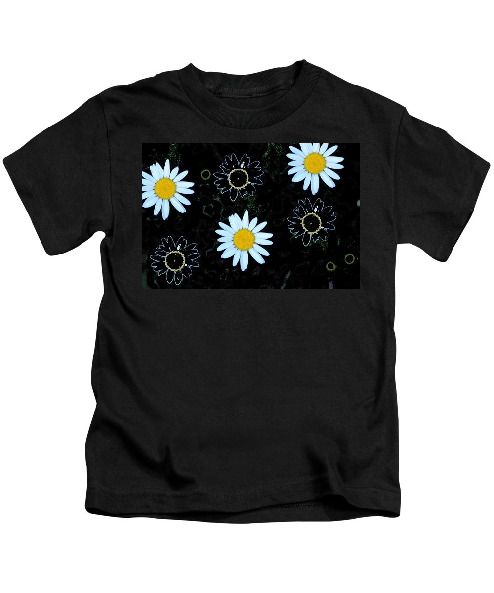 Daisy Kids T-Shirt featuring the photograph Wild Daisy by Eric Liller